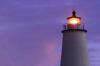 Ocracoke Light Shining at Dawn