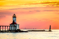 Michigan City Light and Chicago