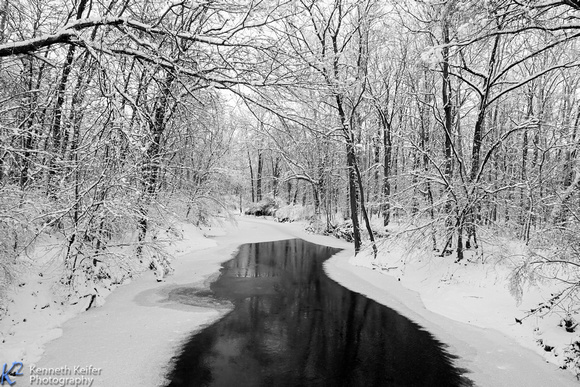 Snow Creek B&W