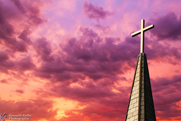 Steeple Cross at Sunset
