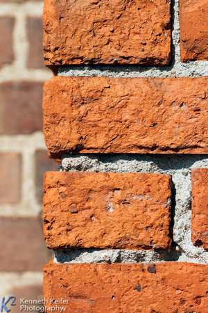Brick Wall Corner Closeup