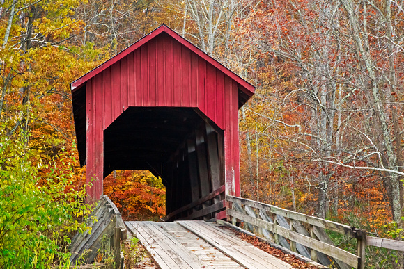 Bean Blossom Covered Bridge in Fall