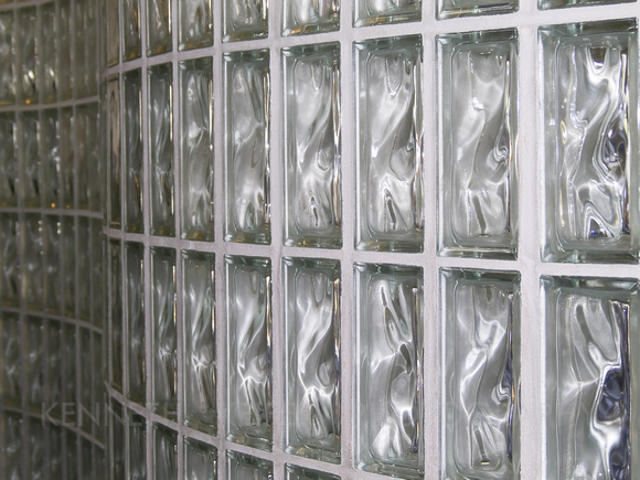 Glass Block Curving Wall