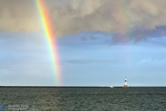 Rainbow and Conneaut Light