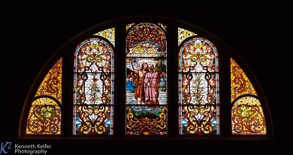 Stained Glass - Baptism of Jesus