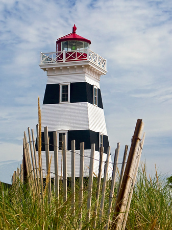 West Point Light & Dune Fence, PEI, Canada