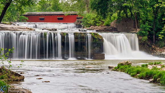Upper Cataract Falls, Bridge, and Mill Ruins