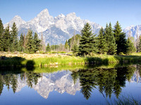 Grand Teton Reflection, Schwabacher's Landing, Wyoming