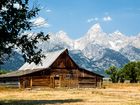 Rustic Barn and Tetons