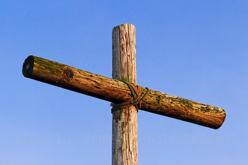 Wooden Cross, Blue Sky