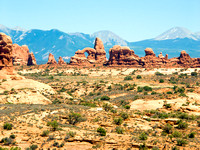 Arches Landscape with LaSal Mountains